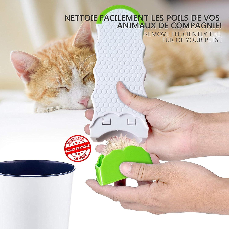 Removedor de Pelo de Mascotas y Removedor Lint Afeitadora Tela Ropa Fuzz | Cepillo de piels para Mascotas con Base Autolimpiador Depilador de Gato y Perro ...