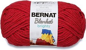 Bernat Blanket Brights Fabric, Race Car Red