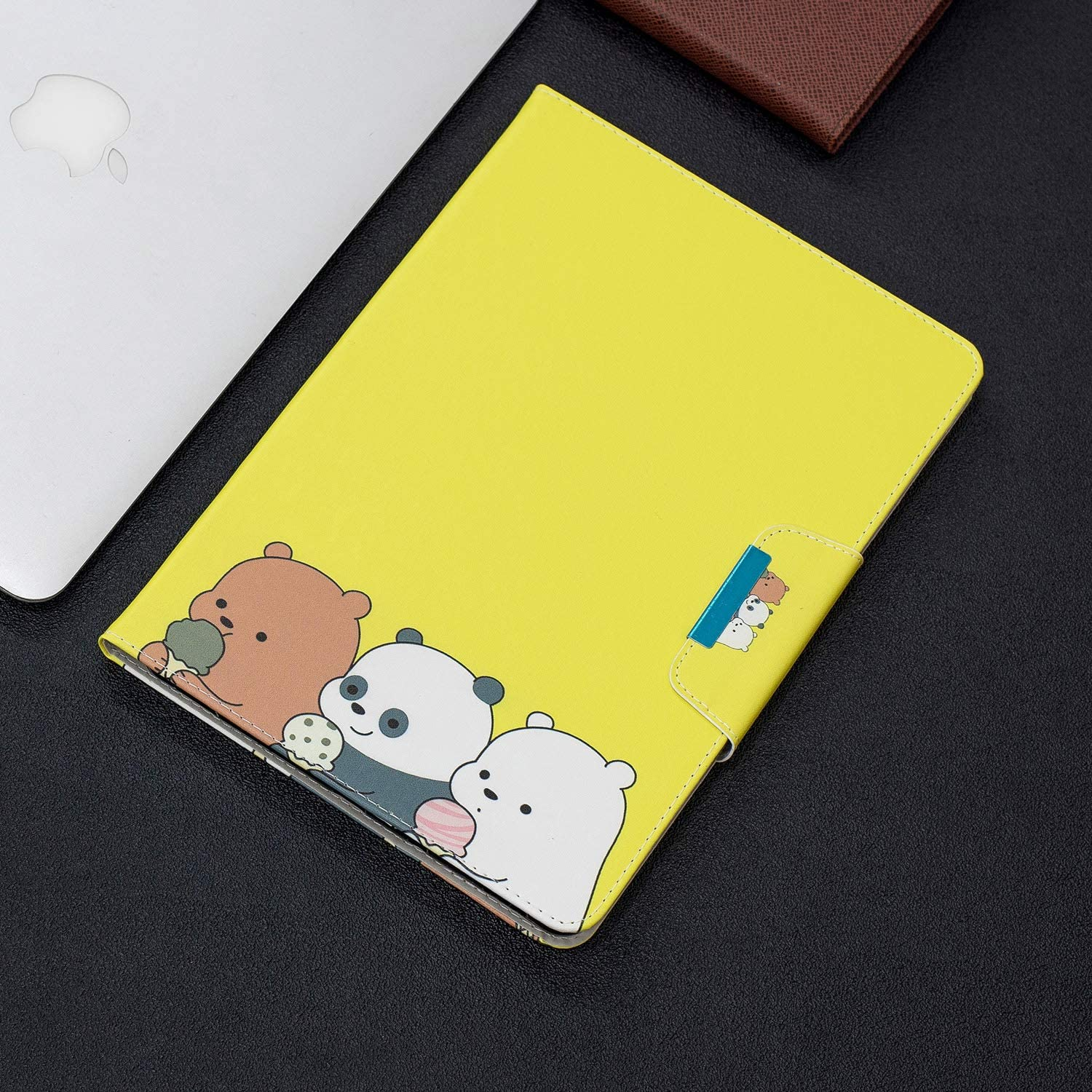 Metermall New for for Samsung T830 Tablet Case Cover PU Leather Color Painting Card Slot Buckle Stand Shell Samsung T830 Flower Bear