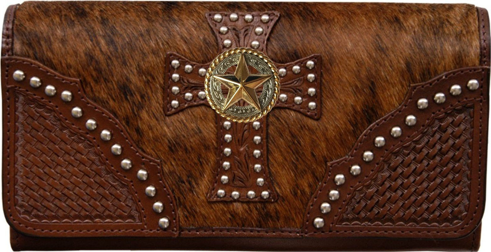 Custom Gold Star Natural Hair Christian Clutch Wallet with removable checkbook
