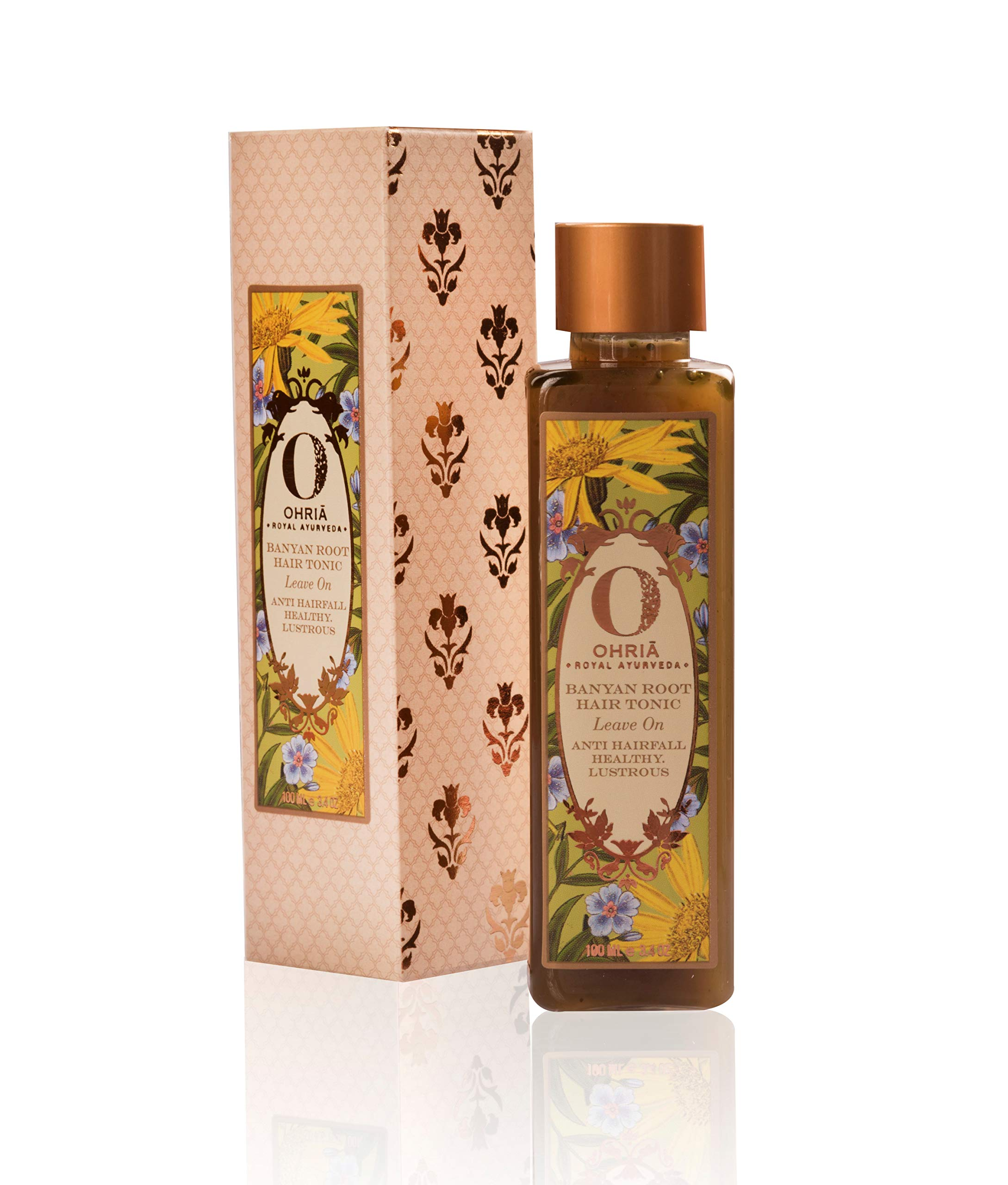 Ohria Ayurveda 100% Natural Banyan Root Hair Tonic | Hair Growth Tonic For All Hair Types - 200 ml/ e6.7 OZ by Ohria Ayurveda