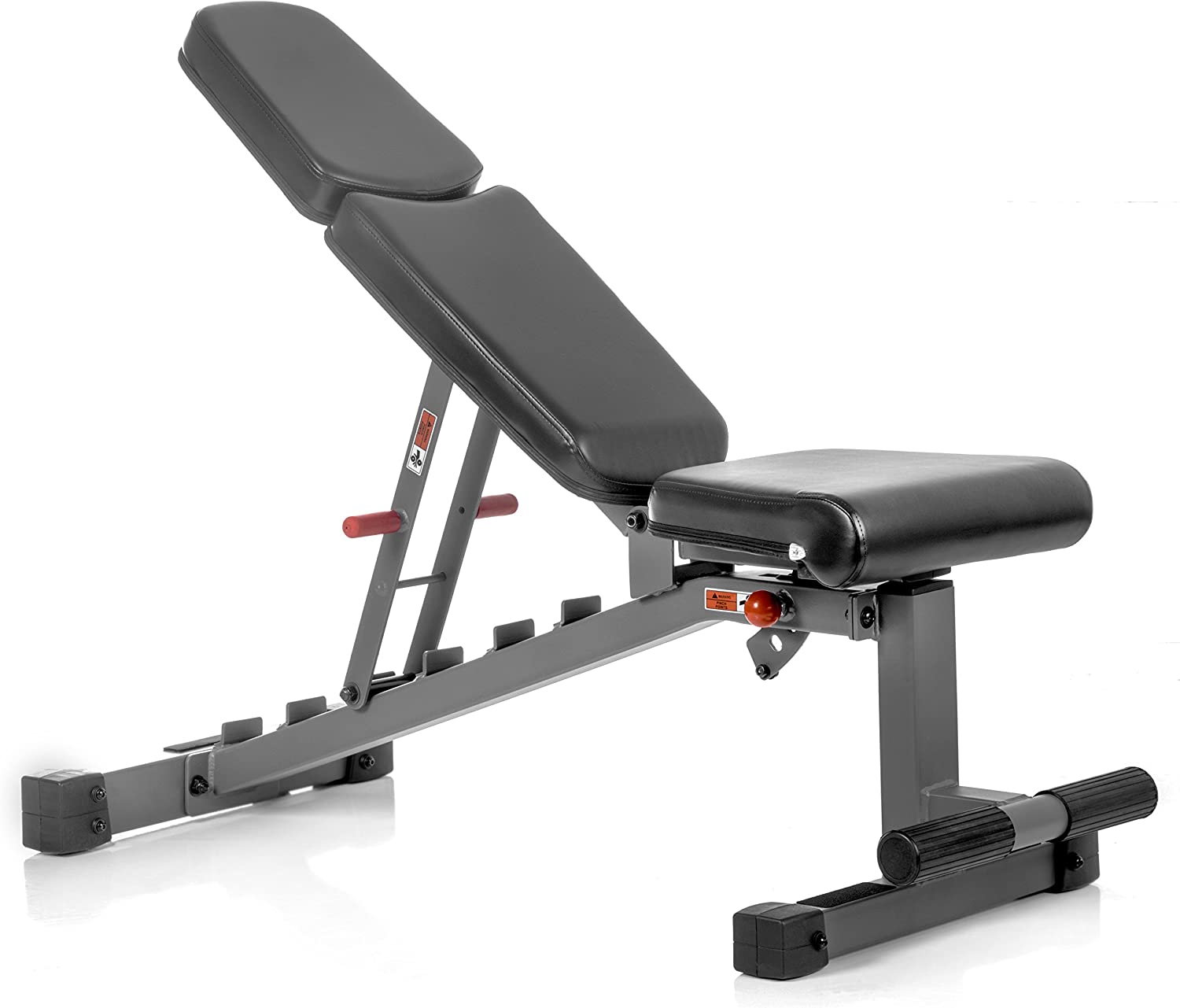 XMark Adjustable FID Weight Bench, 11-Gauge, 1500 lb. Capacity, 7 Back Pad Positions from Decline to Full Military Press Position, Ergonomic 3 Position Adjustable Seat, XM-7630 Gray or White