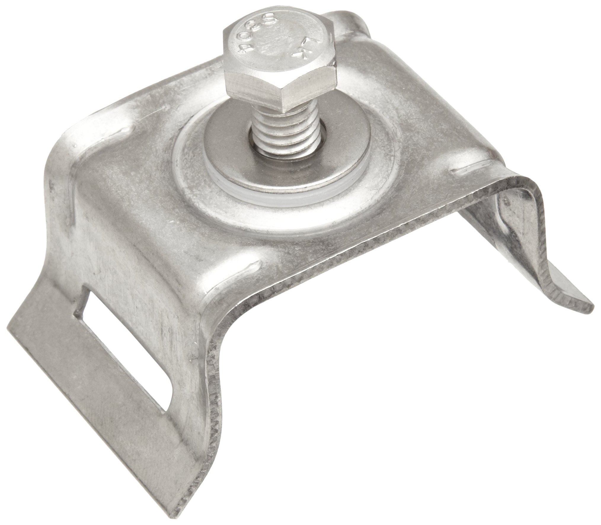 BAND-IT D02189 3/4'' Slot, 200/300 Stainless Steel Flared Leg Single Bolt Brack-It (50 Per Box)
