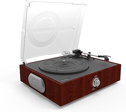 Tocadiscos,Tocadiscos de Vinilo Vintage Bluetooth con 3 ...