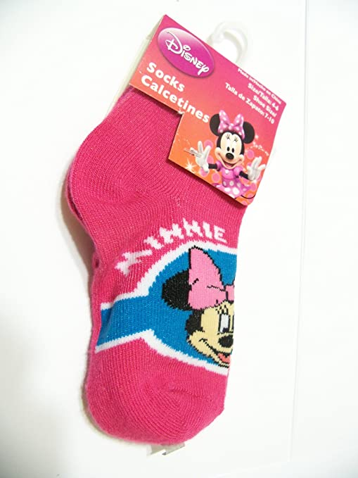 Amazon.com: Disney Minnie Mouse Sock ~ Size 4-6, Shoe Size 7-10; Minnie Mouse Framed: Baby