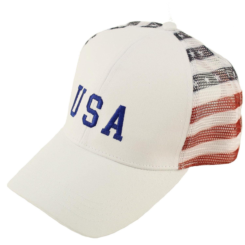 Amazon.com  D Y Women s David and Young USA Americana mesh Back Baseball hat 850e104d4