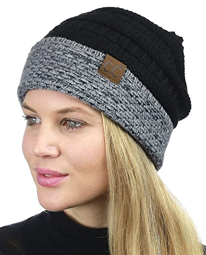 72f3111177c C.C Cable Knit Soft Stretch Multicolor Stitch Cuff Skully Beanie Hat ...