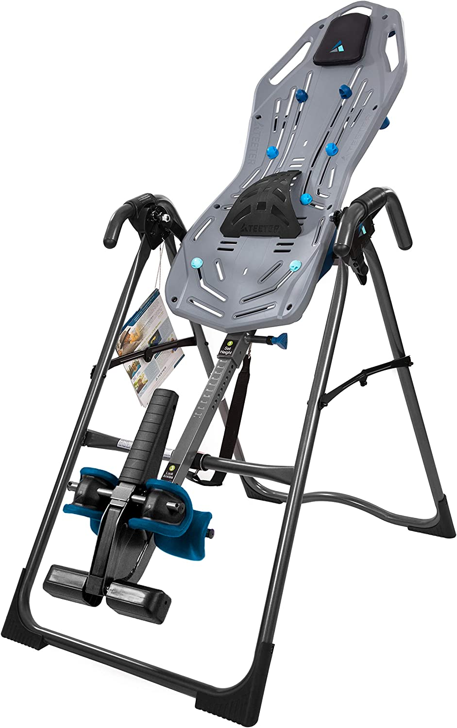 Teeter FitSpine X2 Inversion Table, 2019 Model, Extended Ankle Lock Handle, Back Pain Relief Kit, FDA-Registered
