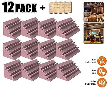 Acepunch 12 piezas PÚRPURA Pequeño Trampa para Bajos Baldosas de Espuma de Aislamiento Acústico Estudio 12