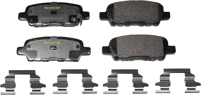 Disc Brake Pad-Total Solution Ceramic Brake Pads Rear MONROE CX905A