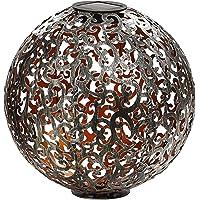Dehner Kula solarna Luanda, Ø 30 cm, metal, srebrna/miedź