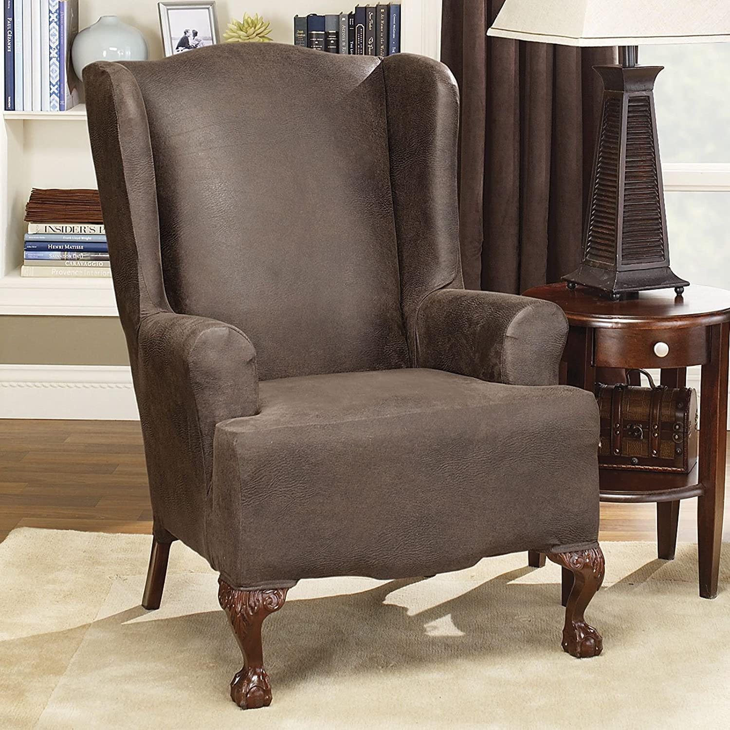 Etonnant Amazon.com: Sure Fit Stretch Leather   Ottoman Slipcover   Brown (SF37322):  Home U0026 Kitchen