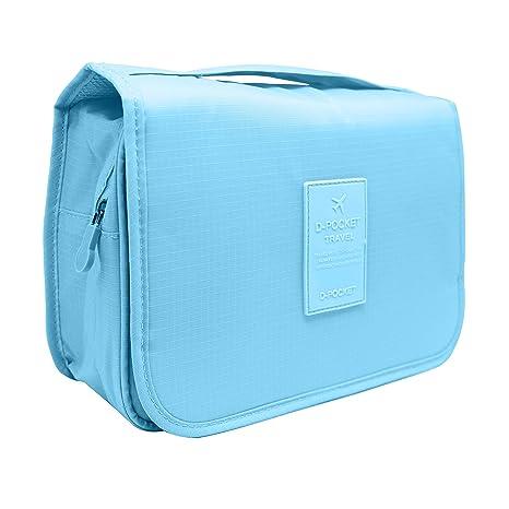 f1ad65342bf4 Buy FUNFEL Light Blue: Hanging Toiletry Bag, Travel Organizer For ...