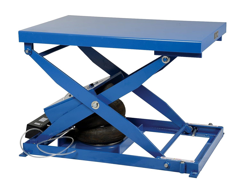 Vestil Ablt 2000 Heavy Duty Air Bag Scissor Lift Table 2000 Lb Capacity 48 Width X 32 Length X 9 Height Blue Steel Height 9 33 80 Minimum Psi 1 2 Incoming Airline Material Handling