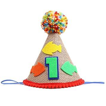 Amazon.com: Gorro de fiesta para el primer cumpleaños de ...