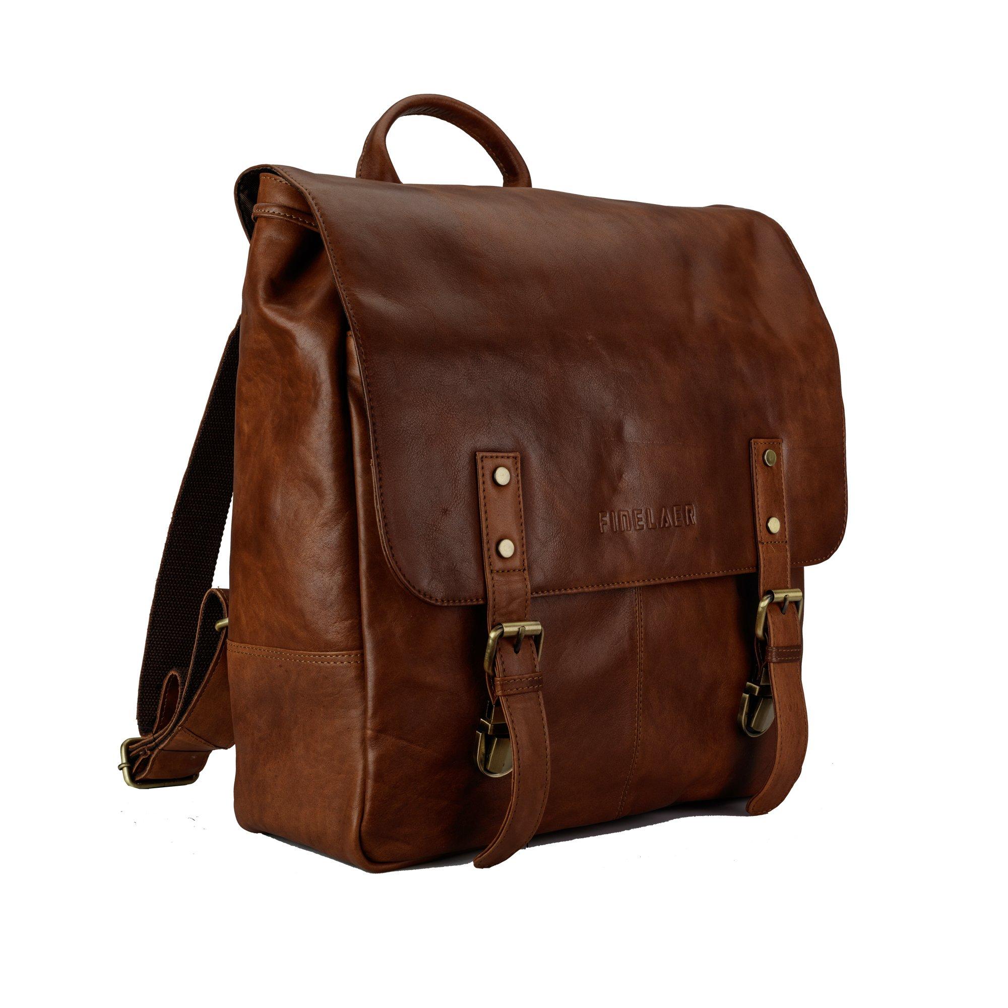 Finelaer Vintage Brown Laptop Backpack Daypack Rucksack Travel Hiking Bag Men Women by FINELAER (Image #6)