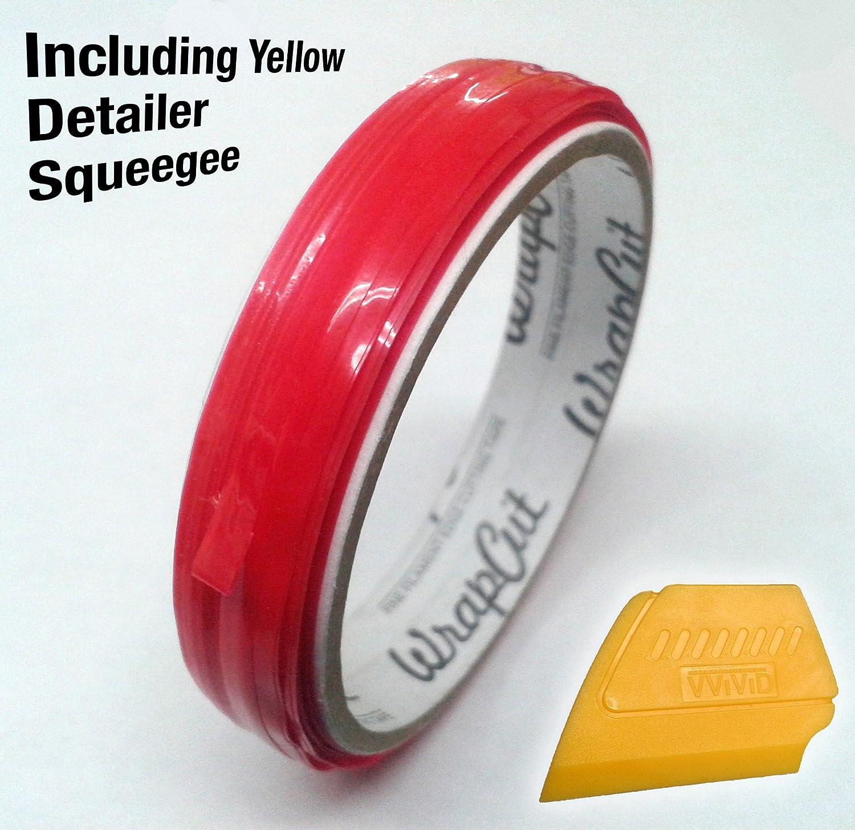 VViViD Wrap Cut 32ft (10M) Vinyl Wrap Edge Cutting Detailer Tape (2 Rolls + Squeegee)
