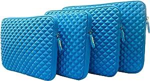 AZ-Cover 14.1 -Inch Case Simplicity & Stylish Diamond Foam Shock-Resistant Neoprene Sleeve (Blue) for Lenovo IBM Thinkpad T410 14.1 Inch Laptop
