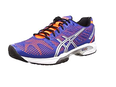 ASICS Gel-Solution Speed 2, Chaussures Multisport Outdoor Hommes - Bleu (Blue/Flash Orange/Silver 4230), 46.5 EU