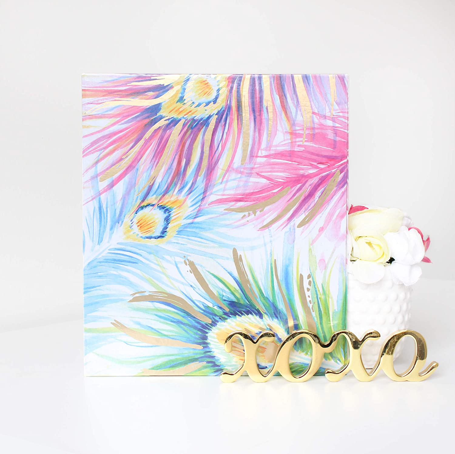 """bloom daily planners 3-Ring Fashion Binder Blue Floral - 1 Inch Ring 10 x 11.5/"""""""