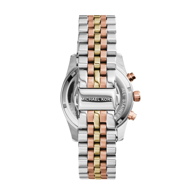 8c4fa4c831e3 Amazon.com  Michael Kors Women s MK5735 - Sport Lexington Chronograph Tri- Tone  Michael Kors  Watches