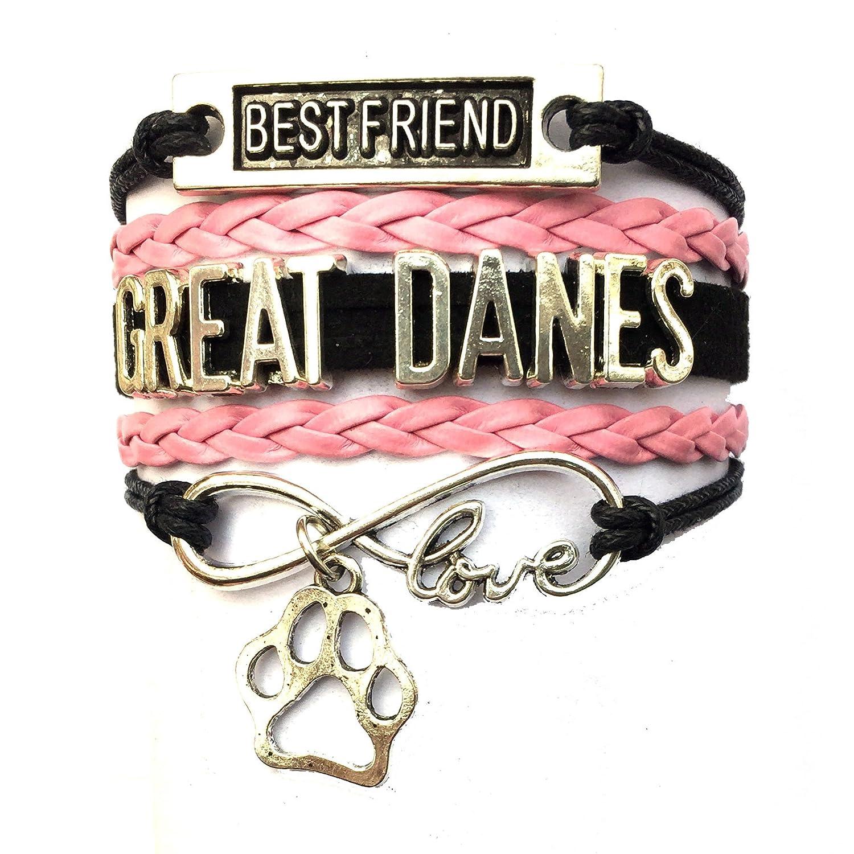 DOLON Braided Great Danes Bracelet Best Friend Dog Paw Charm-5 Colors BRC3176-C