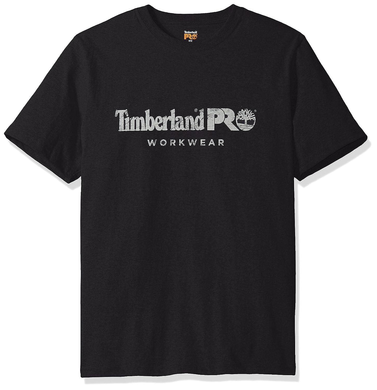 ティンバーランド Pro メンズ 半袖Tシャツ コットンコア B01LBVHPW2 Large ジェットブラック ジェットブラック Large