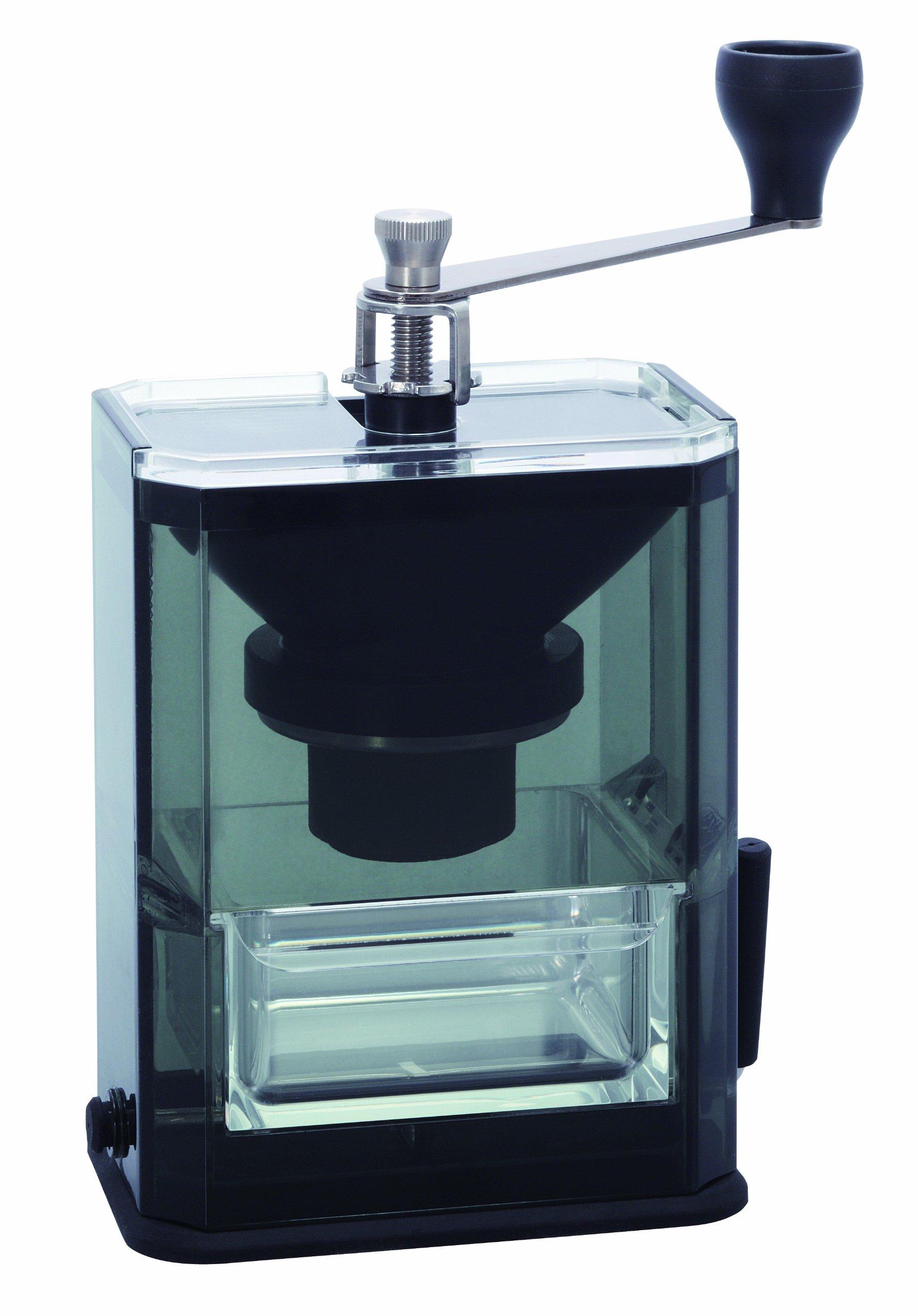 Hario Clear Acrylic Ceramic Coffee Mill Manual Grinder, 40g by Hario