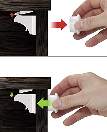 Gentil Childproof Cabinet Locks | Baby Proofing Drawers | Invisible Hidden  Mechanism | Magnetic Door Lock |
