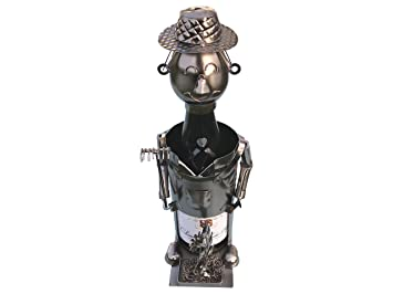 Exoda Porte Bouteille De Vin Jardinier Antonius Metal Figurines