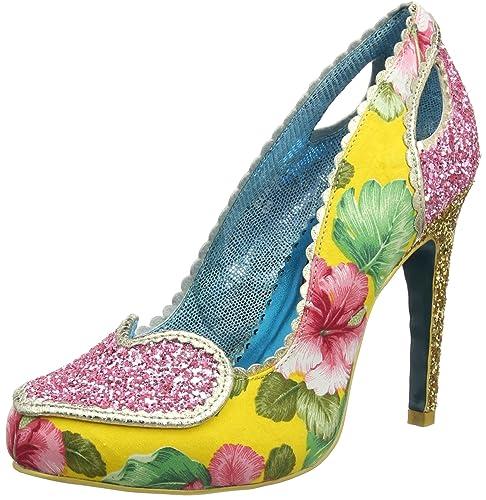 ec5b8a7bfa32 Poetic Licence Womens Loren Love Evening Slip On High Heel Stilettos - Pink Yellow  -