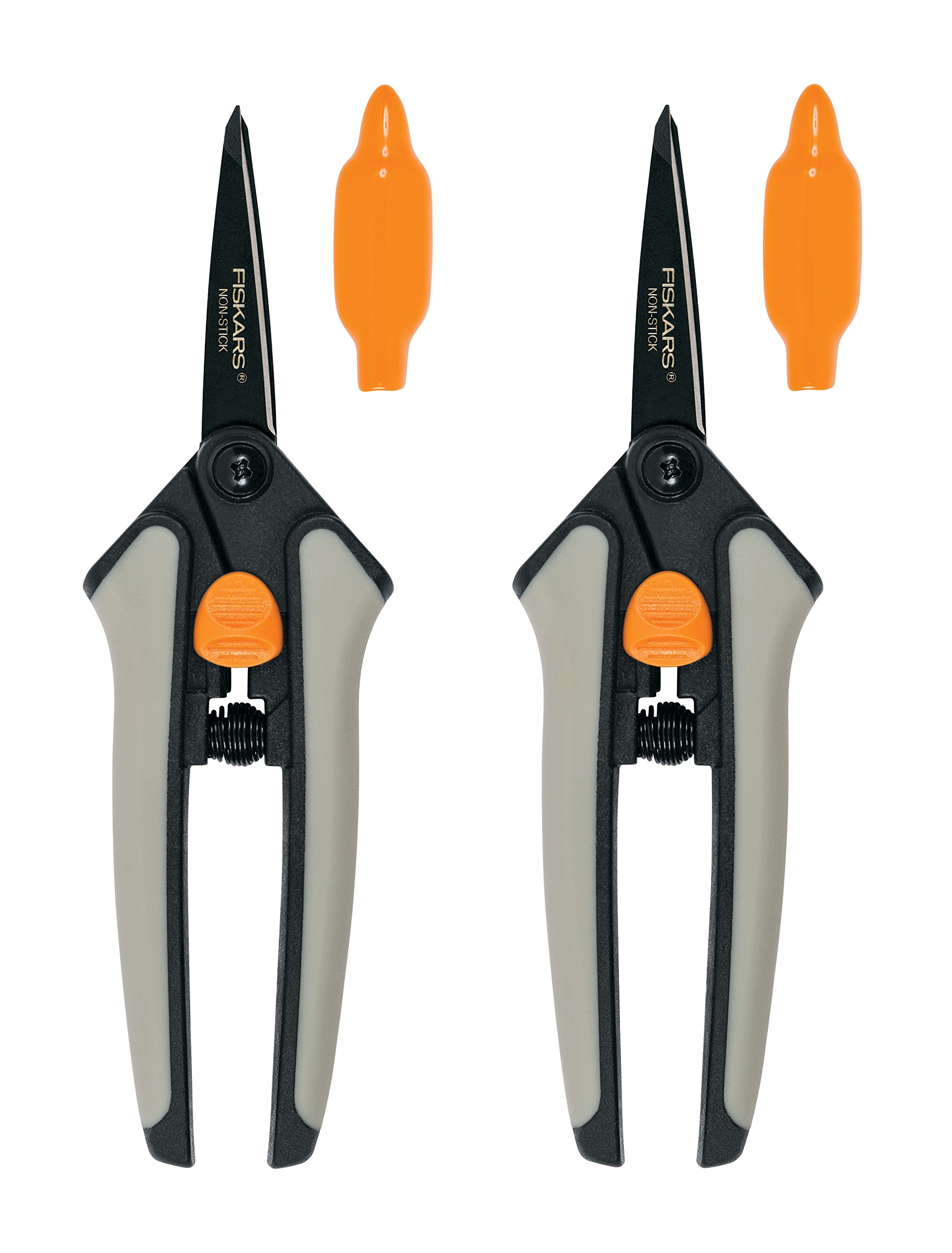 Fiskars Non-stick Softgrip Micro-Tip Pruning Snip, 2 Pack