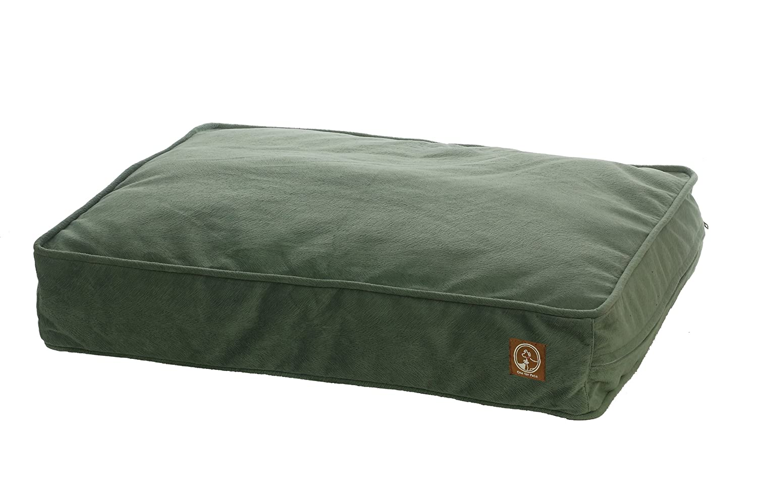 One for Pets Faux Suede Pillow Bed, Vienna Harbor, Medium