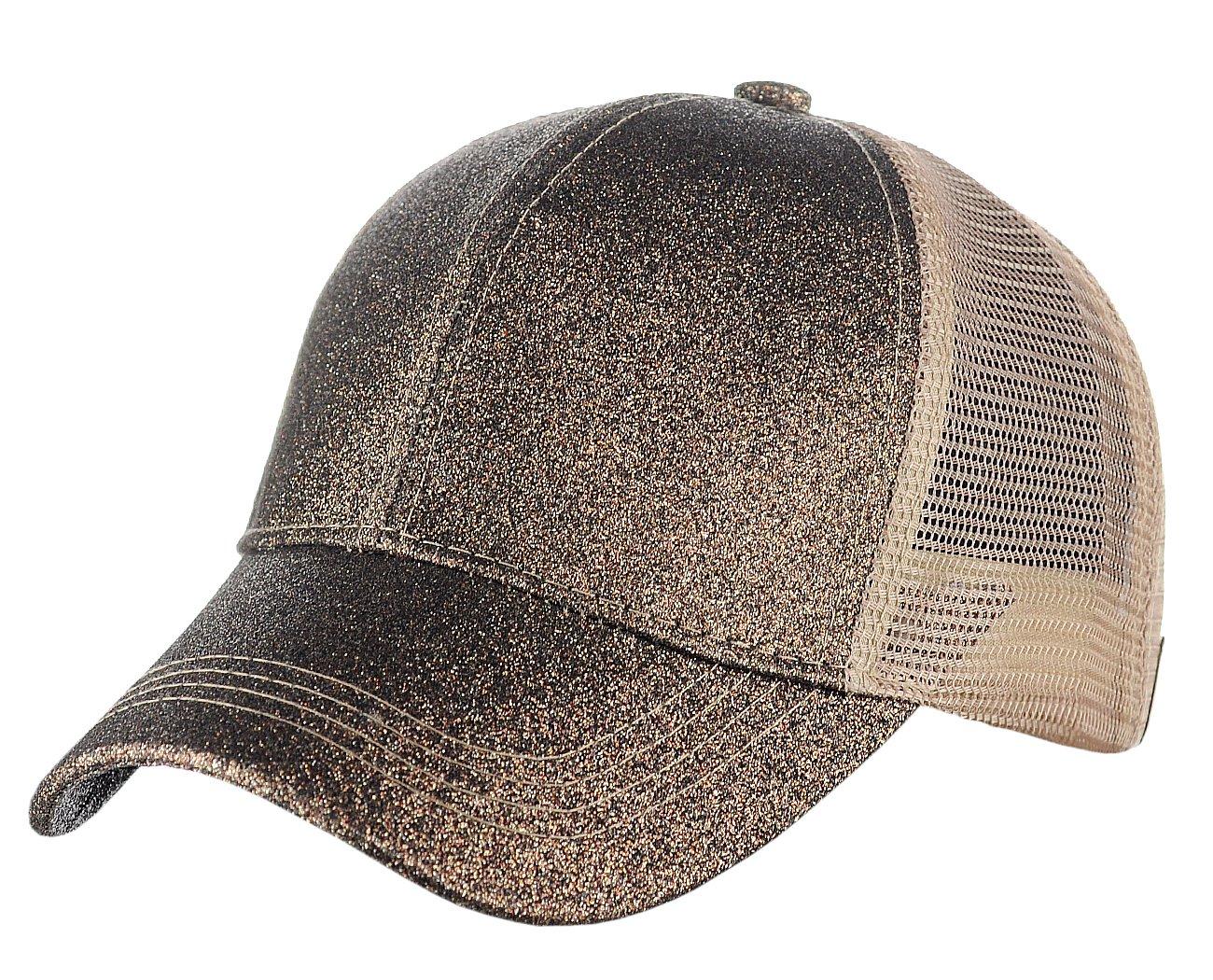 3c2b6da86 C.C Ponycap Messy High Bun Ponytail Adjustable Glitter Mesh Trucker Baseball  Cap, Smoky Topaz - BT6-SMOKY TOPAZ < Baseball Caps < Clothing, Shoes &  Jewelry ...