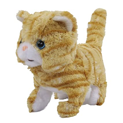 Rowan Movers and Shakers Scottish Fold Plush Soft Cat Toy (Gold)