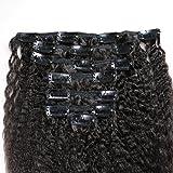 18inch Kinky Straight Clip In Human Hair Extensions 7A Italian Coarse Yaki Clip Ins Human Hair Brazilian Virgin Hair Clip In Extension 7pcs/lot,120gram/set