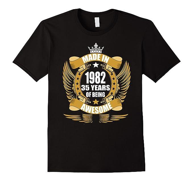 Mens 35th Birthday Gift Idea 35 Year Old Boy Girl Shirt 1932 2XL Black