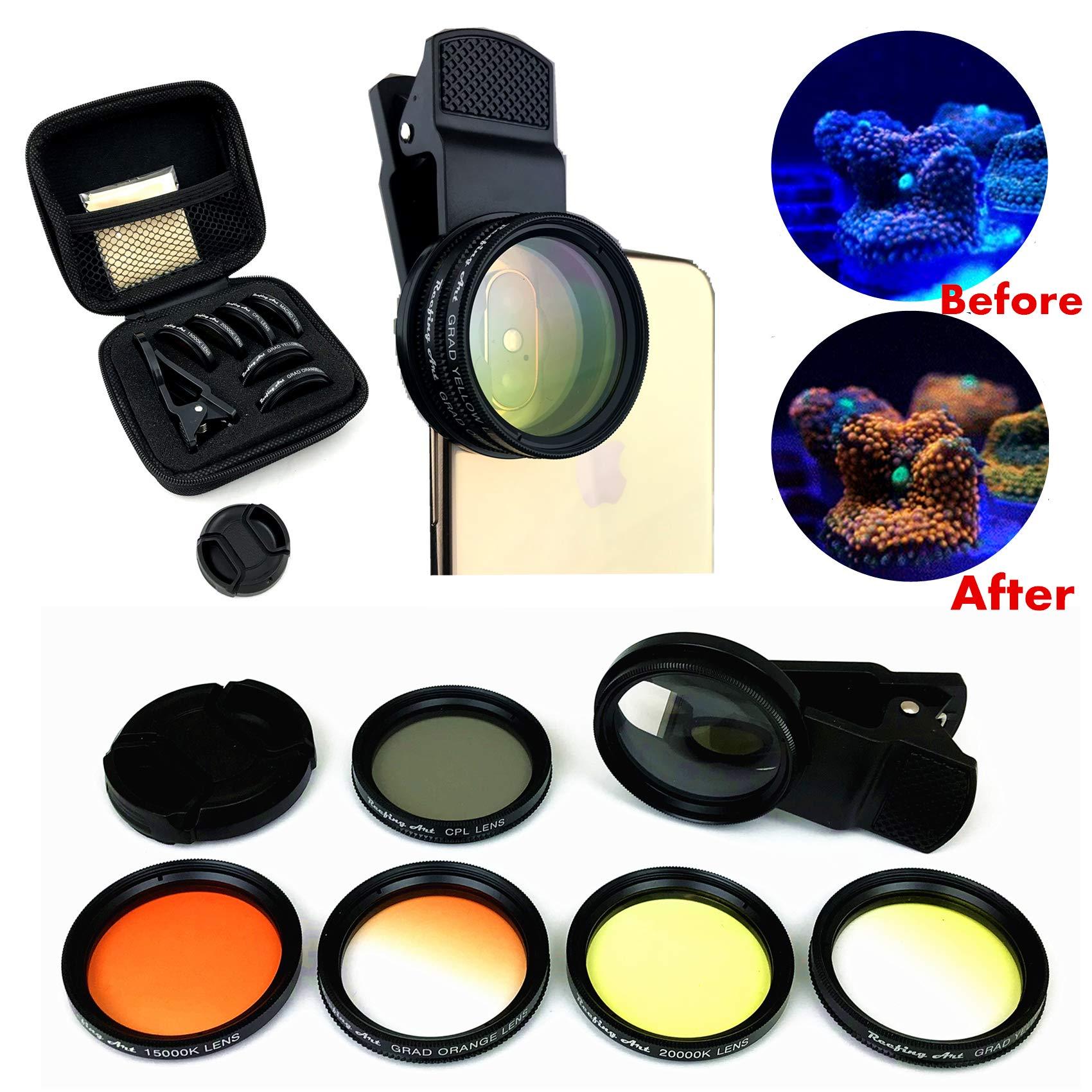 Reefing Art Coral Lens Professional Photography 6Lenses Kit frag Rack Aquarium by Reefing Art