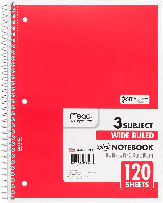 3 tema amplia rayas cuaderno de espiral doble 120 10,5