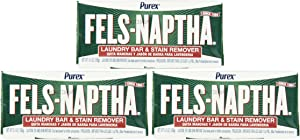Fels Naptha Laundry Bar and Stain Remover, 5.5 Ounce - Pack of 3