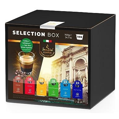 Caja de selección de café SanSiro No. 3. - 100 cápsulas, Cafissimo/Tchibo, Expressi y Caffitaly, compatibles