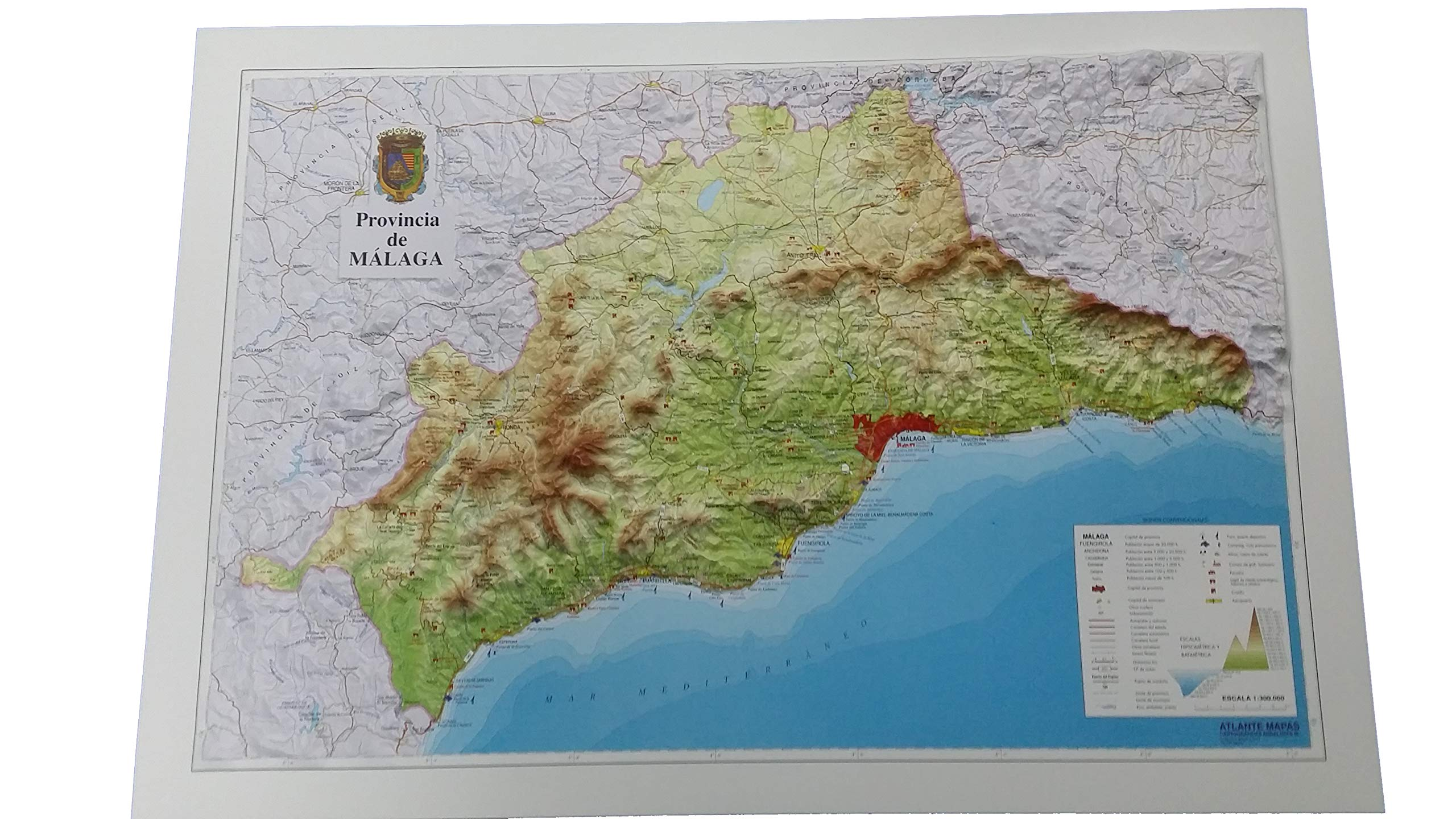 Mapa en relieve de Málaga: Escala 1:300.000: Amazon.es: All 3D Form, S.L.: Libros