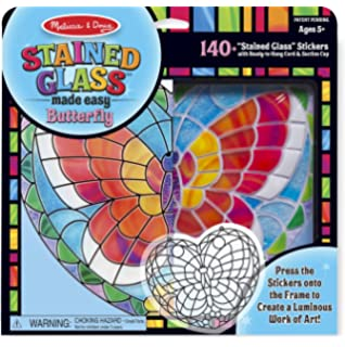 Melissa U0026 Doug Stained Glass Made Easy Activity Kit: Butterfly   140+  Stickers