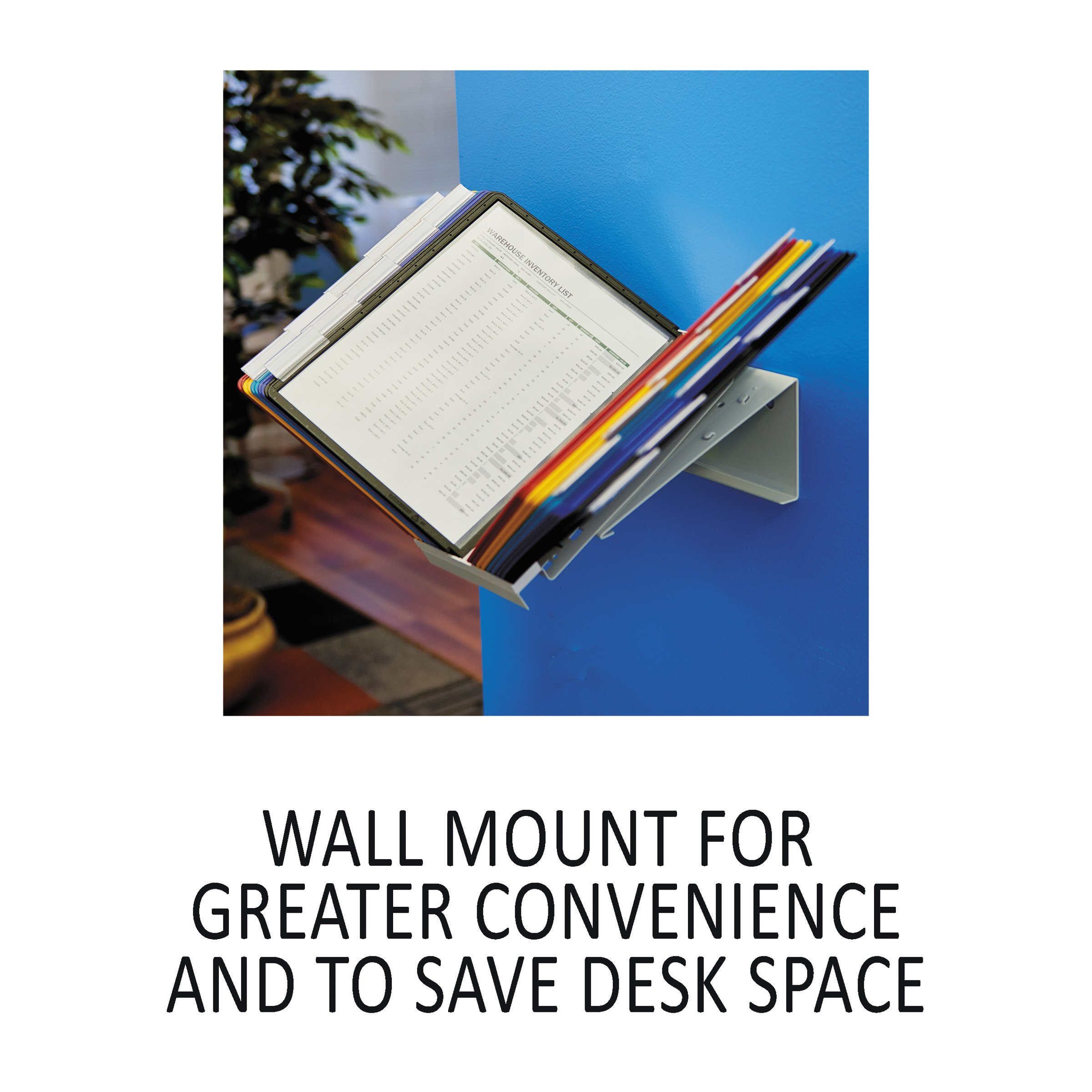 DURABLE Vario 20-Panel Desktop Reference System, Assorted Color Borders (536100) by Durable (Image #4)