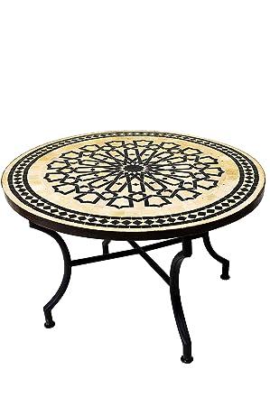 cm Table ronde ø 100 marocaine petit mosaïque en basse 0ZwnOXN8Pk