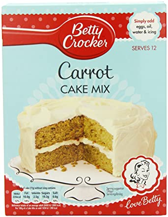 Betty Crocker Carrot Cake Mix 500 G Pack Of 6