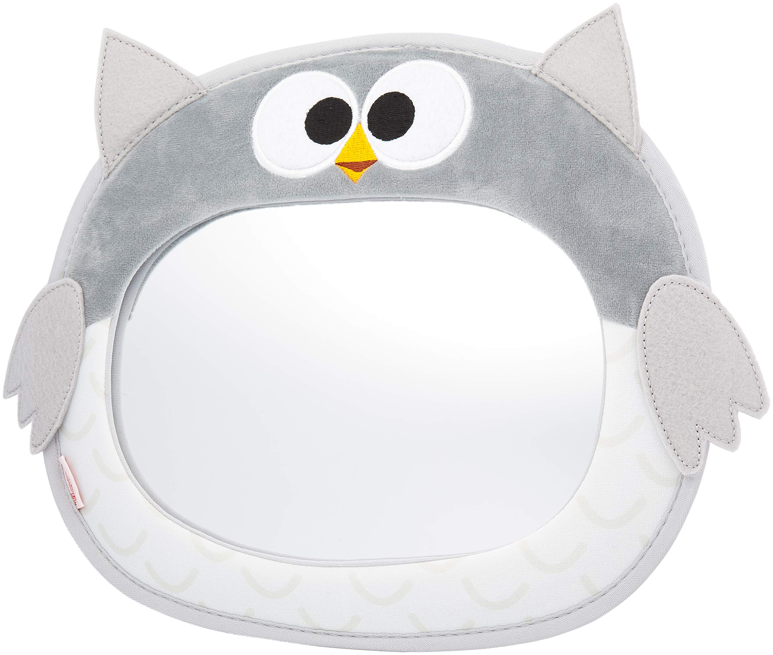 Nuby Baby Backseat Mirror for Car - View Infant in Rear Facing Car Seat, Owl, Child Toddler Travel by Nuby