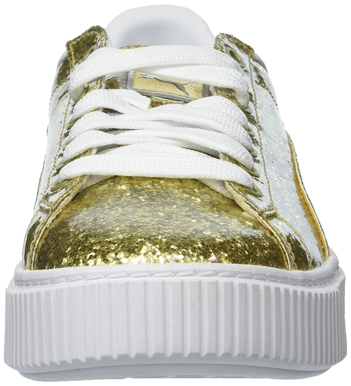 Amazon.com | PUMA Womens Basket Platform Glitter Wn | Platforms & Wedges