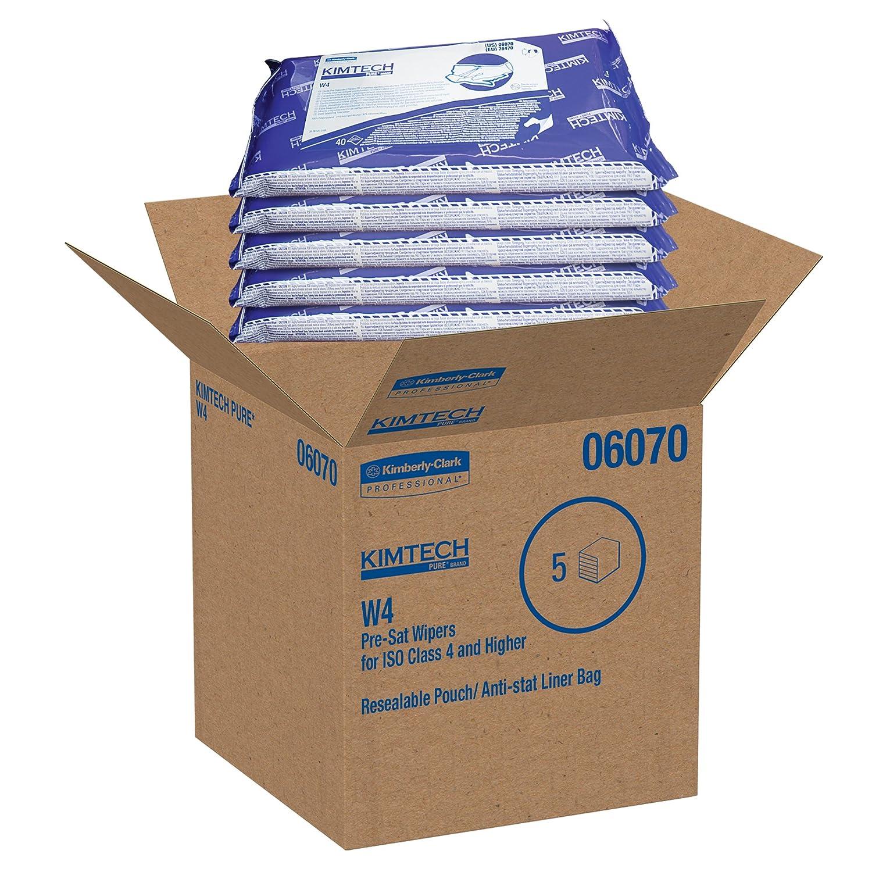 Kimberly-Clark 6070 W4 Presat Alcohol Wipers 9 X 11 70/% Ipa White 40//pack,