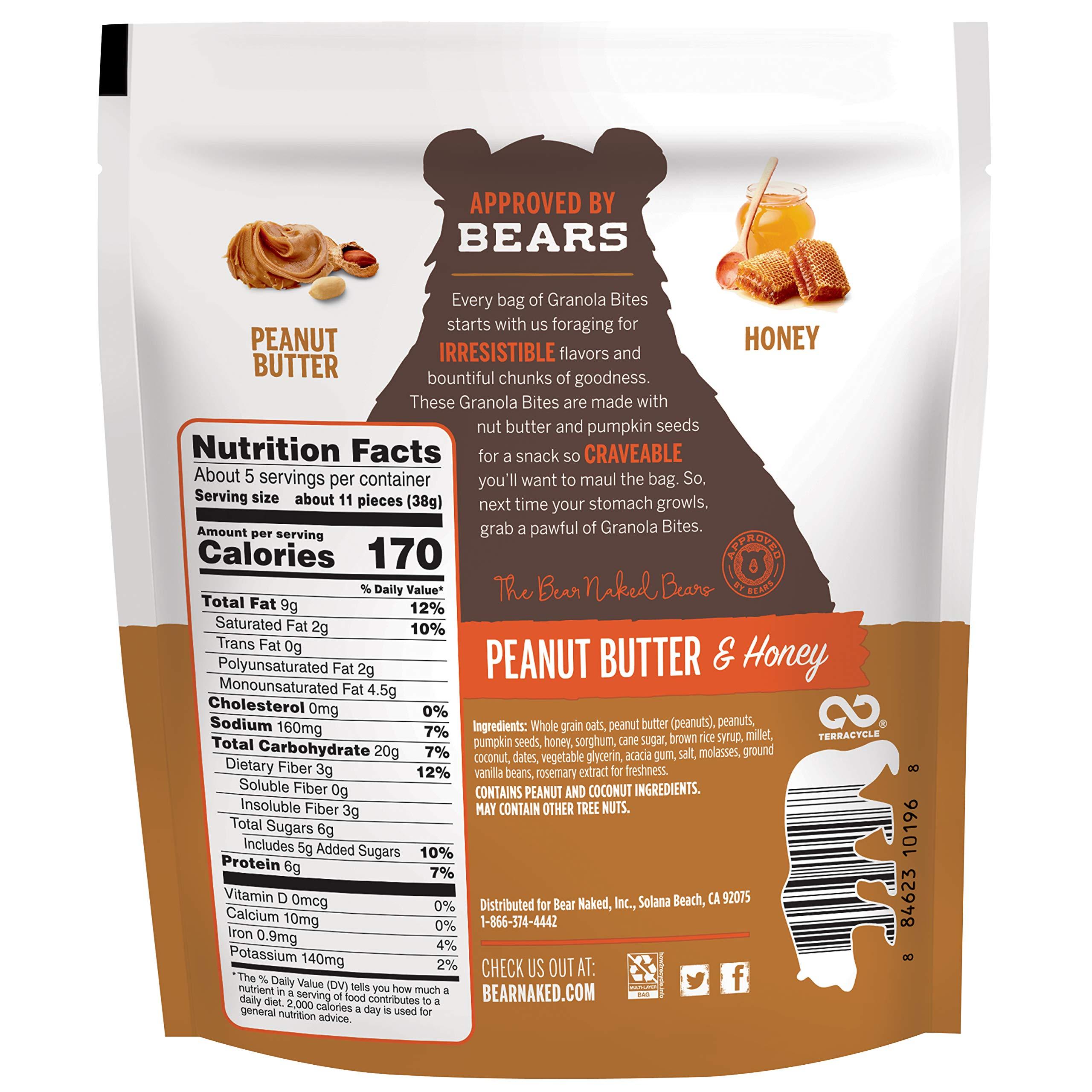 Bear Naked Peanut Butter & Honey Granola Bites - Gluten Free | Non-GMO | Kosher | Vegetarian Friendly - 7.2 Oz by Bear Naked (Image #2)
